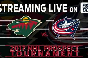 watch: wild vs. blue jackets at nhl prospects tournament
