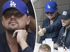 leonardo dicaprio at u.s. open after night out with model