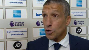 Brighton 3-0 West Brom: Chris Hughton relieved after Seagulls' first Premier League win