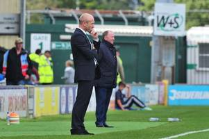 why darren way and gary johnson will not be speaking before they face off at huish park