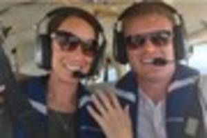 man proposes in tiny plane 3,000 feet above english channel
