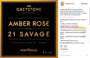 """amber rose & 21 savage ready to cake up together: """"issa big deal"""""""