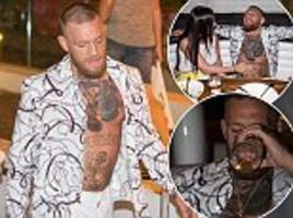 defeated ufc fighter conor mcgregor relaxes his regime