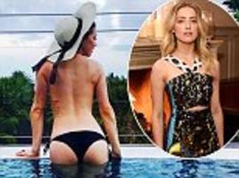 topless amber heard shows off her peachy derriere in bali