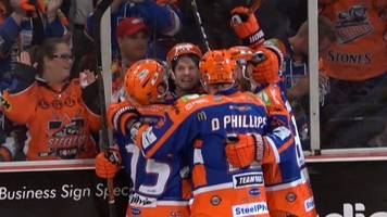 Elite League: Sheffield Steelers score winning goal against Nottingham Panthers with one second left