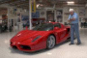 jay leno welcomes the holy grail of sports cars, the ferrari enzo