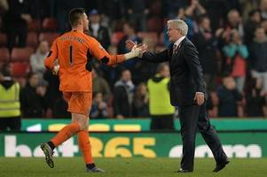 mark hughes puzzled by england snub for stoke city keeper jack butland