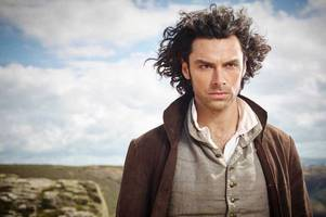 first pictures emerge of aidan turner and poldark crew in cornwall while filming for fourth series of bbc drama