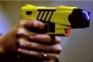A man was tasered in Bromley after assaulting an officer...