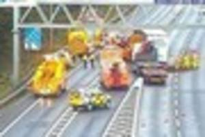 Drivers are warned of long delays on M25 stretching from junction...