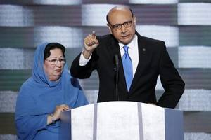 gold star father khizr khan calls trump uneducated and illiterate at unity, civility talk