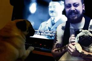 jewish leader tells 'nazi dog' trial that training pooch to give sieg heil salute is 'grossly offensive'