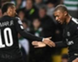 mbappe creates champions league history with goal for psg against celtic