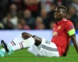 Pogba leaves Old Trafford on crutches after injury against Basel