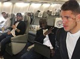 Manchester City travel to Rotterdam in style