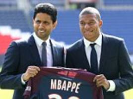 psg presiddent: mbappe was offered more money elsewhere