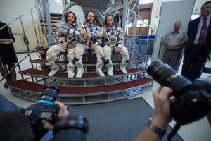 watch three new crew members launch to the international space station this afternoon