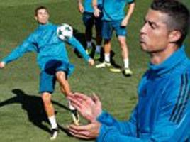 Cristiano Ronaldo prepares with Real Madrid for CL clash