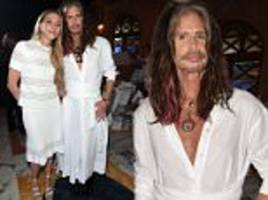 steven tyler wears dress to charity event with girlfriend