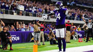 nfl: stefon diggs stars for minnesota vikings in win over new orleans saints