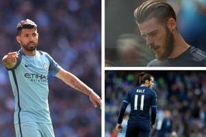 FIFA 18 player ratings: Manchester United's De Gea, Real Madrid's Gareth Bale and Manchester City's Aguero among the top 20 players on the game