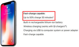 Surprise: The iPhone X supports fast charging, but you'll have to pay extra