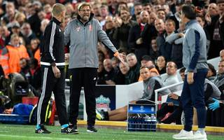 klopp clashes with sevilla boss as liverpool draw euro opener