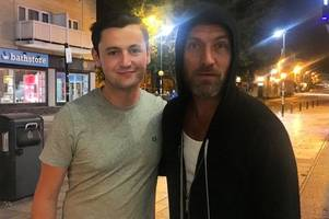 hollywood a-lister jude law causes security scare during hooded cinema trip