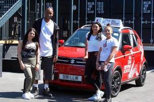 who else is on all star driving school with claudia fragapane?