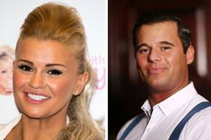 kerry katona spotted snogging new boyfriend glow star james english at gatwick airport