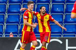 only rangers game i played was at firhill but i'll be cheering on my boy against gers says partick thistle star ryan edwards' dad