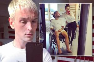 ordinary boys' preston breaks leg and punctures lung after drunkenly plunging from balcony