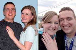 strathaven bride-to-be walking on air after proposal on the queensferry crossing