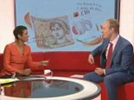 BBC reporter forgets the Queen is on English bank notes