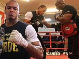 Anthony Yarde gives a taster at Box nation session