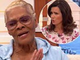 dionne warwick snaps at susanna reid for whitney mention