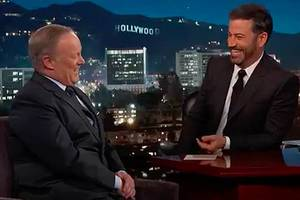 Jimmy Kimmel Asks Sean Spicer: 'Have You Ever Seen the President Naked?' (Video)