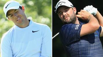 bmw championship: rory mcilroy's fedex cup defence hit as marc leishman leads