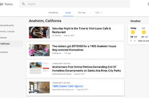 Google News now displays localized community updates from bloggers
