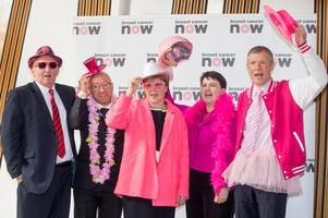 Scotland's political leaders unite by 'wearing it pink' to support women with breast cancer