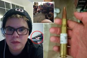 teen school shooter's haunting last youtube video shows him simulating shootout with friend