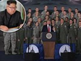 Trump warns Kim: US Air Force brings 'day of reckoning'