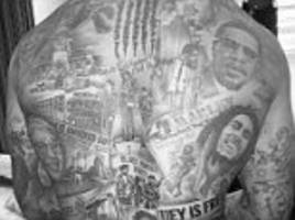 Andre Gray's tattoo pays homage to civil rights activists