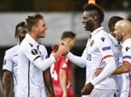 Europa League round-up: Mario Balotelli nets for Nice
