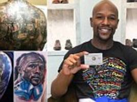 floyd mayweather pays tribute to supporters' tattoos