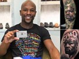 floyd mayweather reveals tribute tattoos of adoring fans