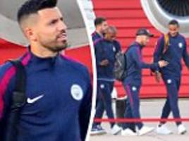 manchester city stars board private jet to london