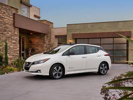 the new nissan leaf is a big improvement on the old car — but it's up against tough design competition from the tesla model 3 (tsla)