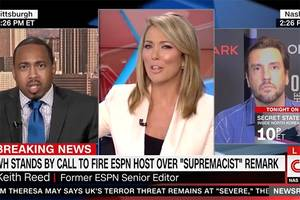 brooke baldwin shuts down clay travis after he weirdly brings up 'boobs' on cnn (video)