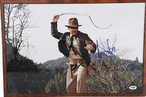 indiana jones bullwhip, 'scarface' portrait to go up for auction